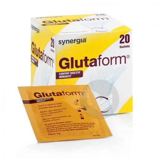 Glutaform Poudre Solution Buvable Peche 20 Sachets