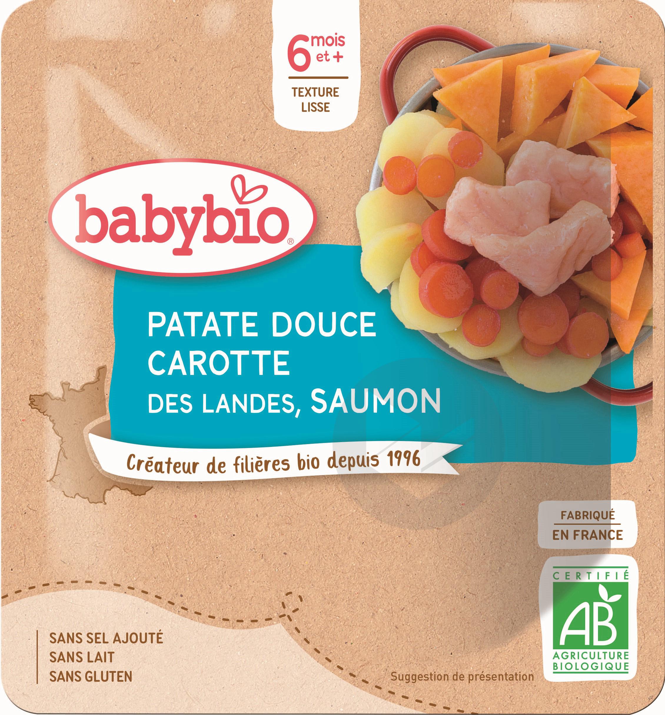 Poche Patate Douce Carotte Saumon