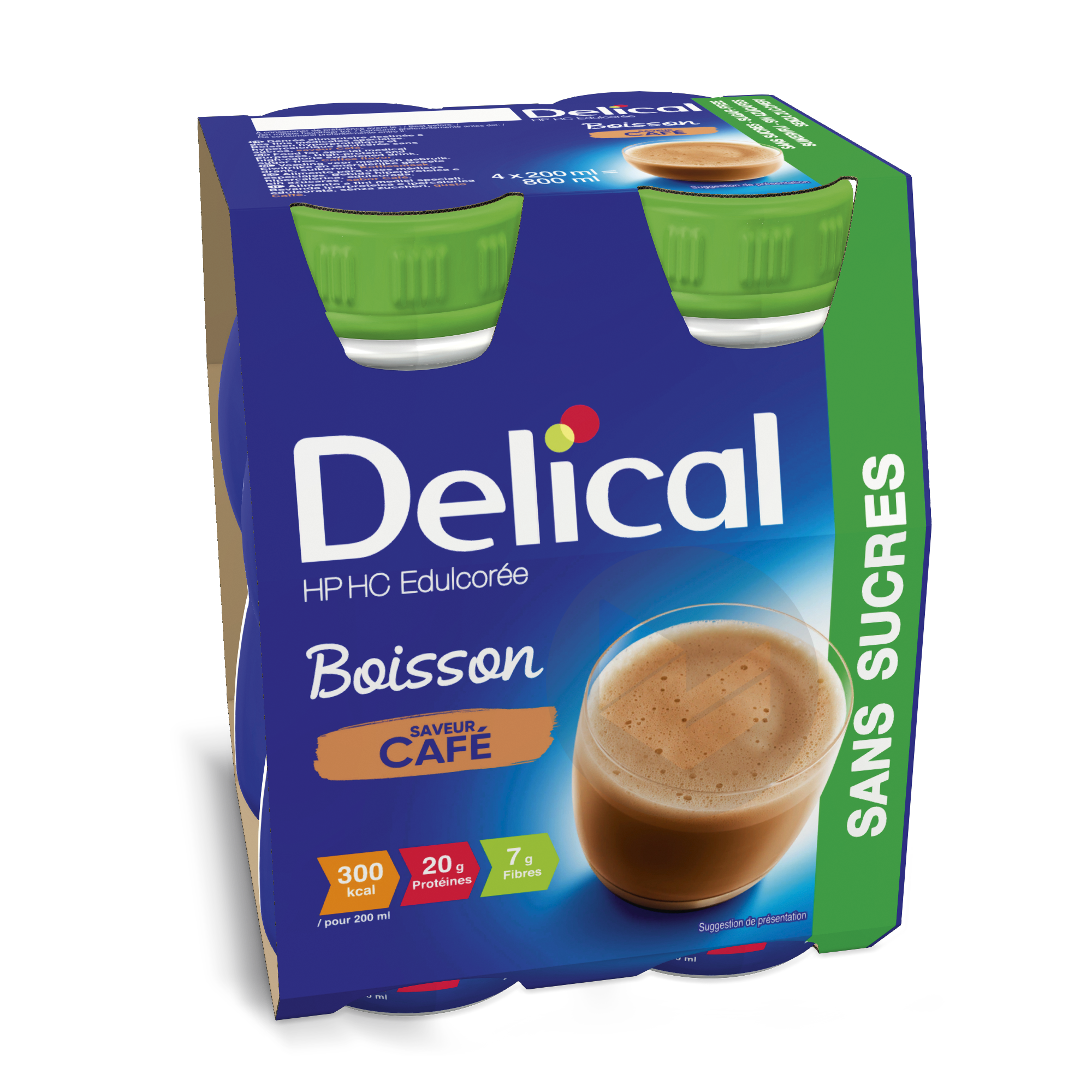 Delical Boisson Hp Hc Sans Sucres Cafe