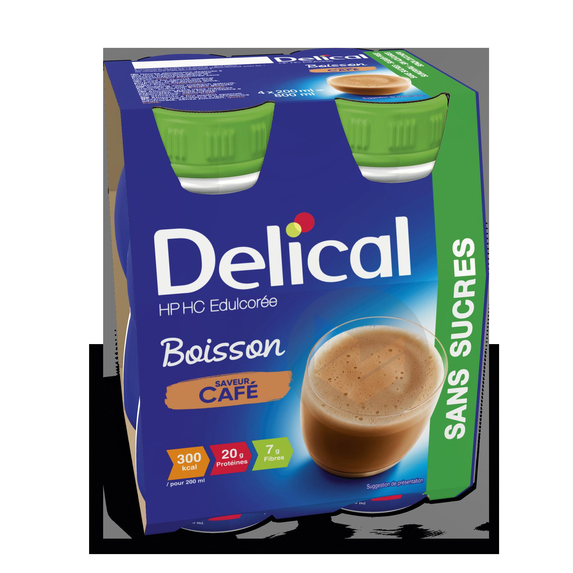 DELICAL Boisson HP HC sans sucres Café