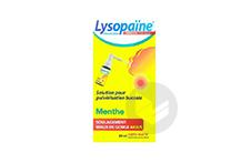 Lysopaine Ambroxol 17 86 Mg Ml Solution Pour Pulverisation Buccale Maux De Gorge Sans Sucre Menthe Edulcoree Au Sucralose Flacon De 20 Ml