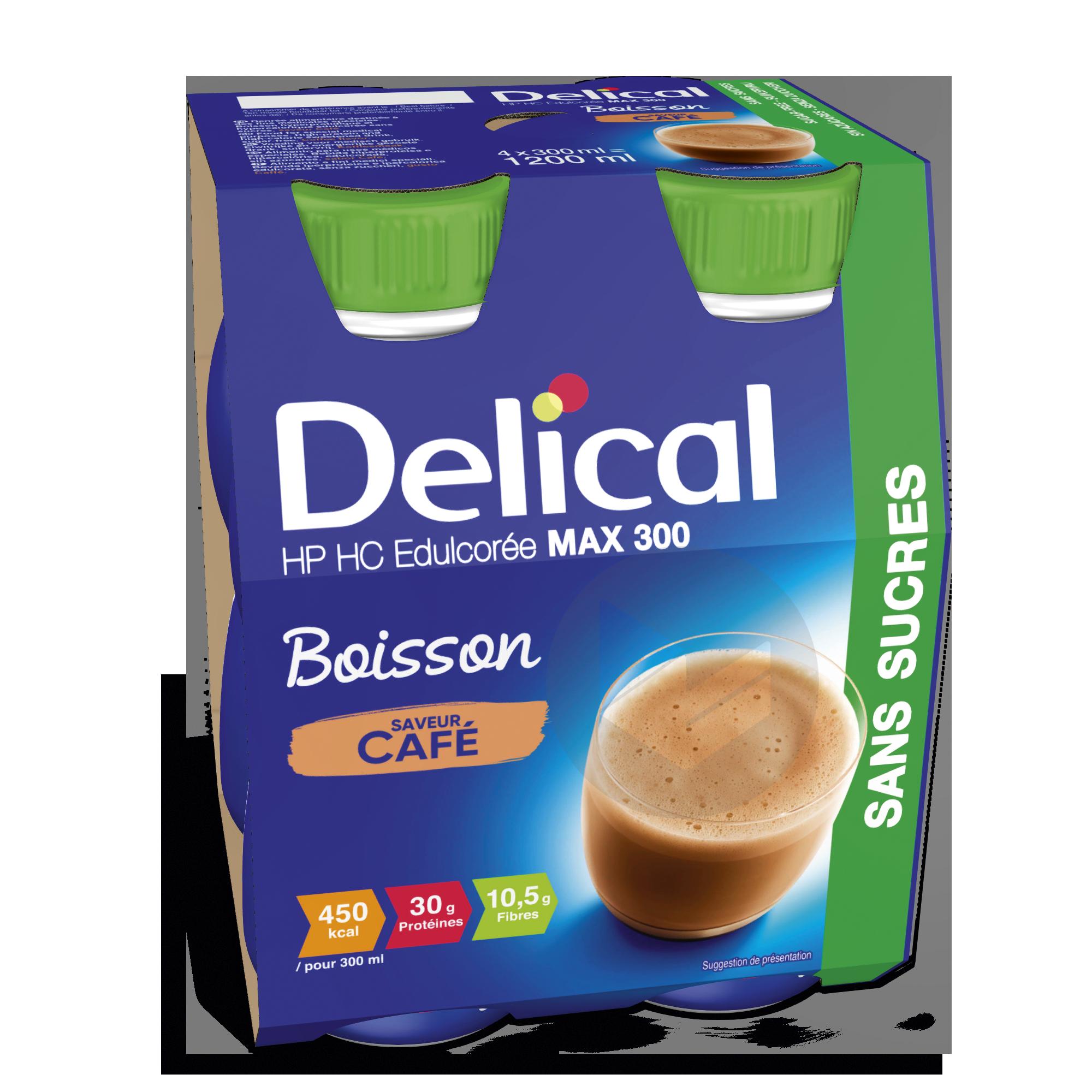 Delical Boisson Hp Hc Max 300 Sans Sucres Cafe