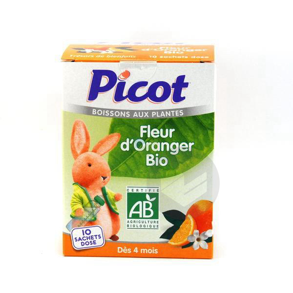 PICOT BIO Prép pour boisson fleur d'oranger 10Sach/5g