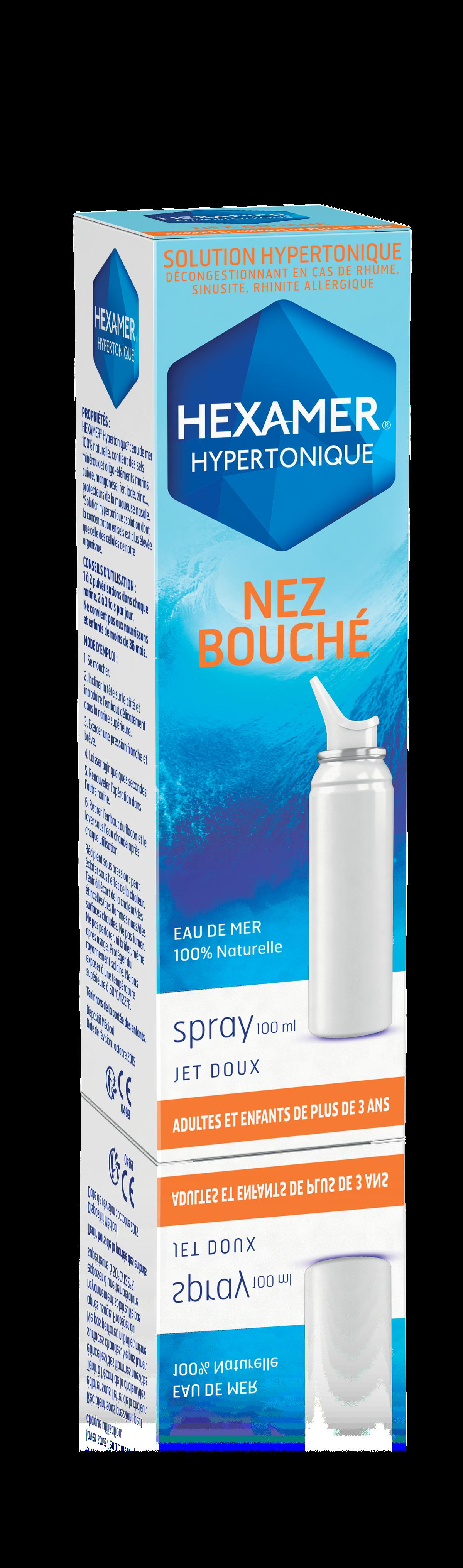 HEXAMER Hypertonique nez bouché spray nasal 100 ml
