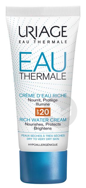 EAU THERMALE Crème d'eau riche SPF20 40ml