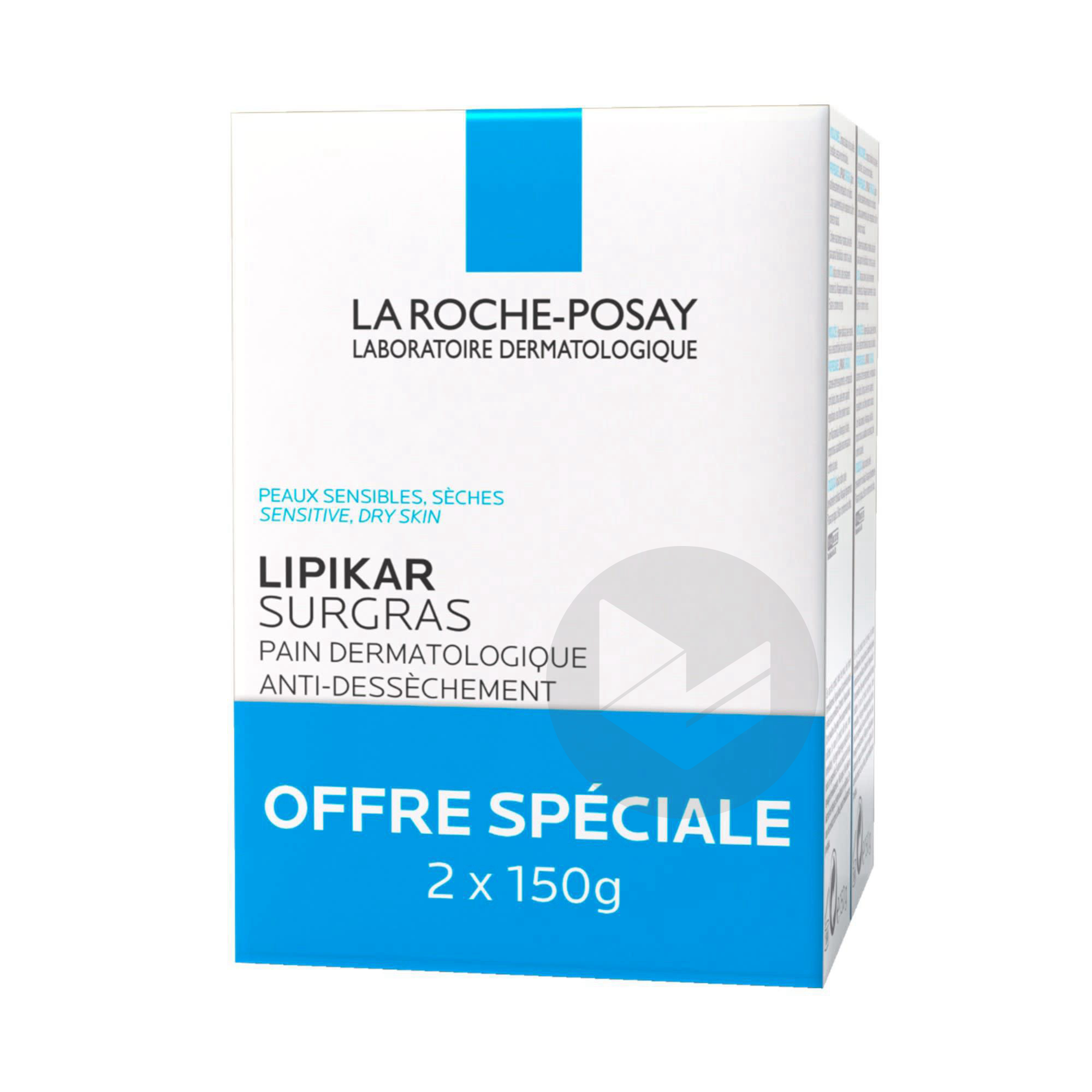 Lot 2 Lipikar Pain Surgras Dermatologique Anti Dessechement 150 G