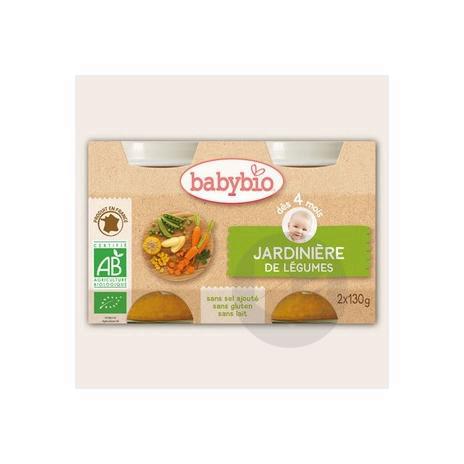 BABYBIO Aliment infant jardinière de légumes 2Pots/130g