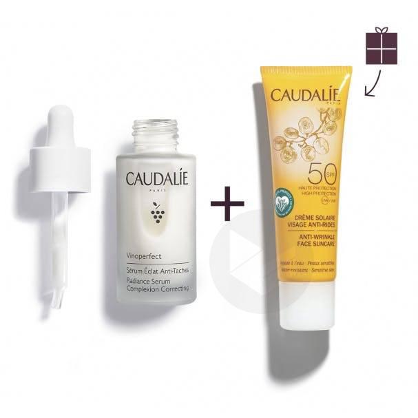 Sérum Éclat Anti-Taches 30 ml Vinoperfect+ Crème Solaire Visage Anti-Rides SPF50 25 ml