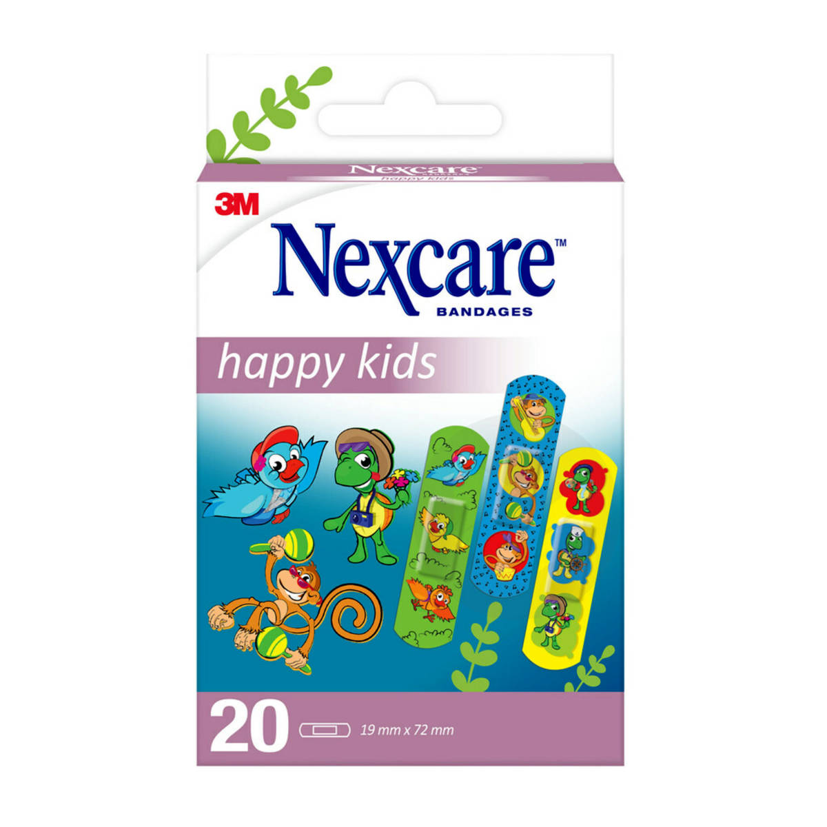 Nexcare Soft Kids 19mmx72mm décors animaux x20