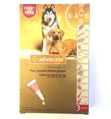 ADVOCATE SPOT-ON S ext chien de 10 à 25 kg 3Pip/2,5ml