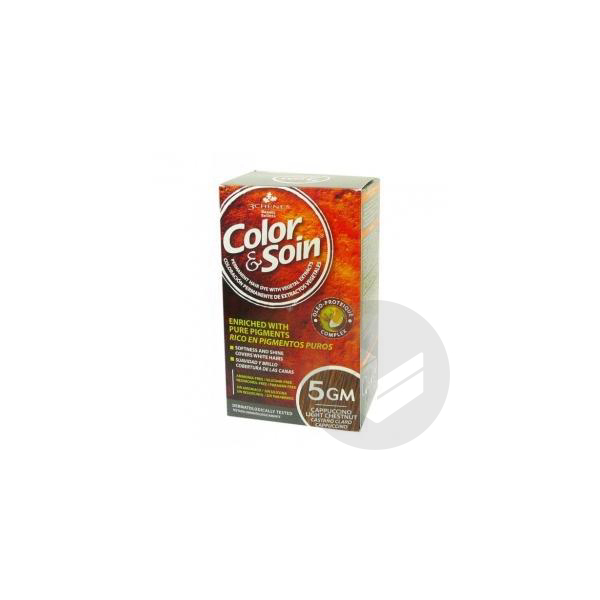 Color Soin Kit Coloration Permanente 5 Gm Chatain Clair Cappucino