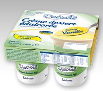 Creme Dessert Hp Hc Sans Sucres Nutriment Vanille 4 Pots 200 G