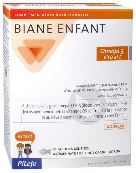 Biane Enfant Omega 3 Vit D Et E Past Gelifiee B 27