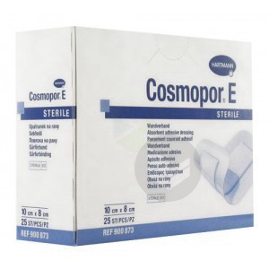COSMOPOR E STERIL Pans adhésif stérile avec compresse 8x10cm B/10