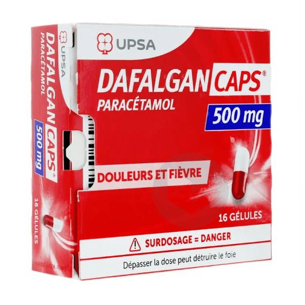 Dafalgan Caps 500 Mg 16 Gelules