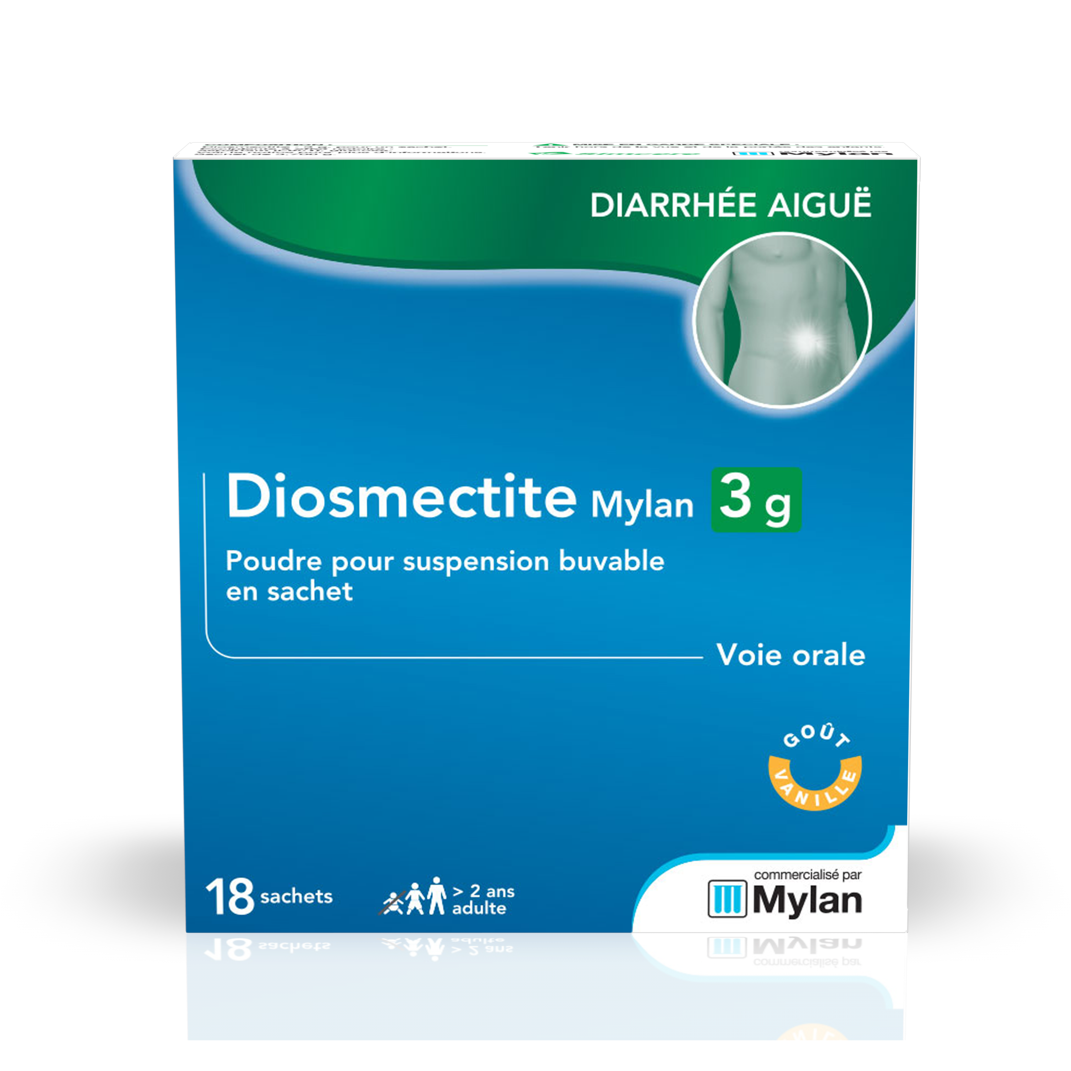 Diosmectite 3 G 18 Sachets