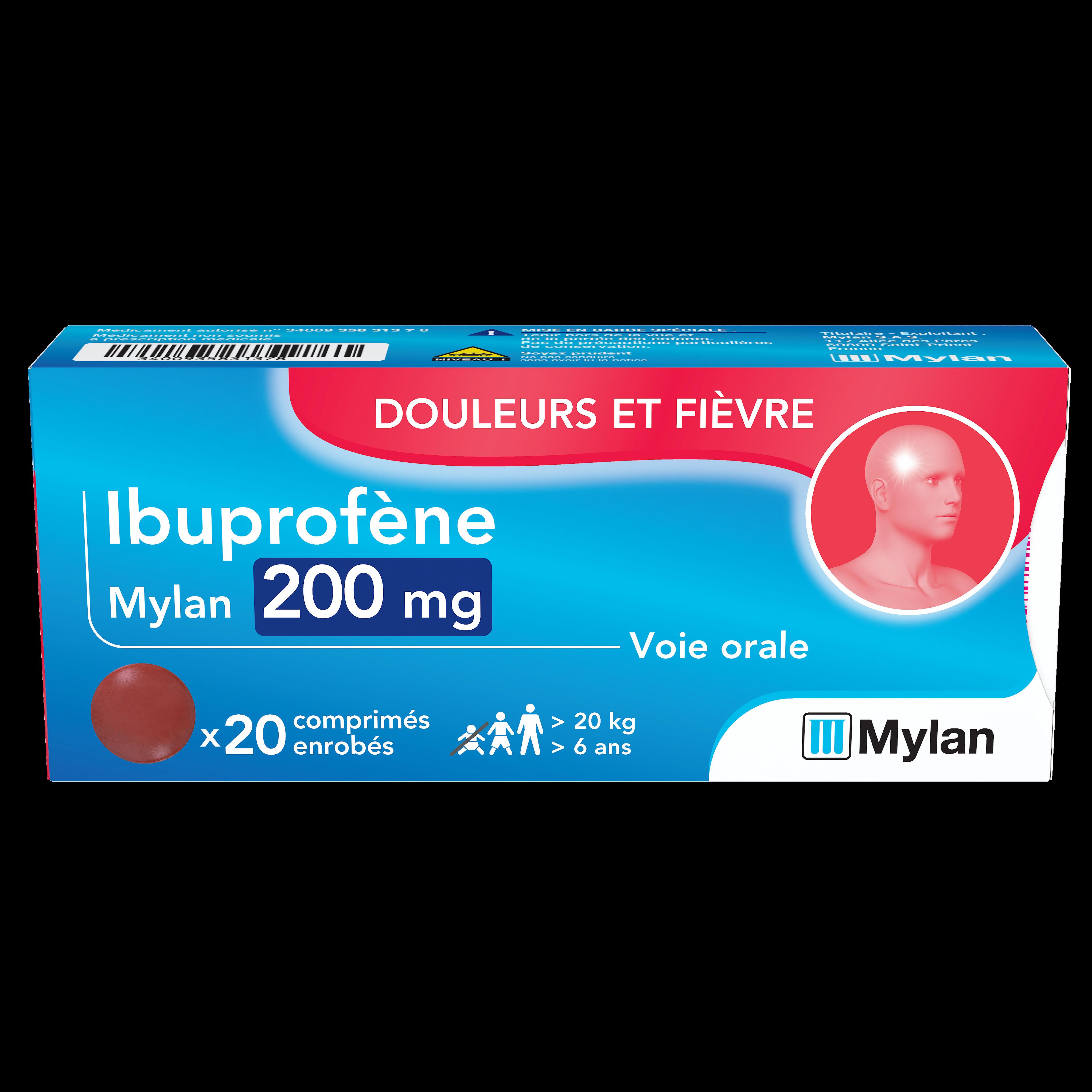 Ibuprofene 200 Mg 20 Comprimes