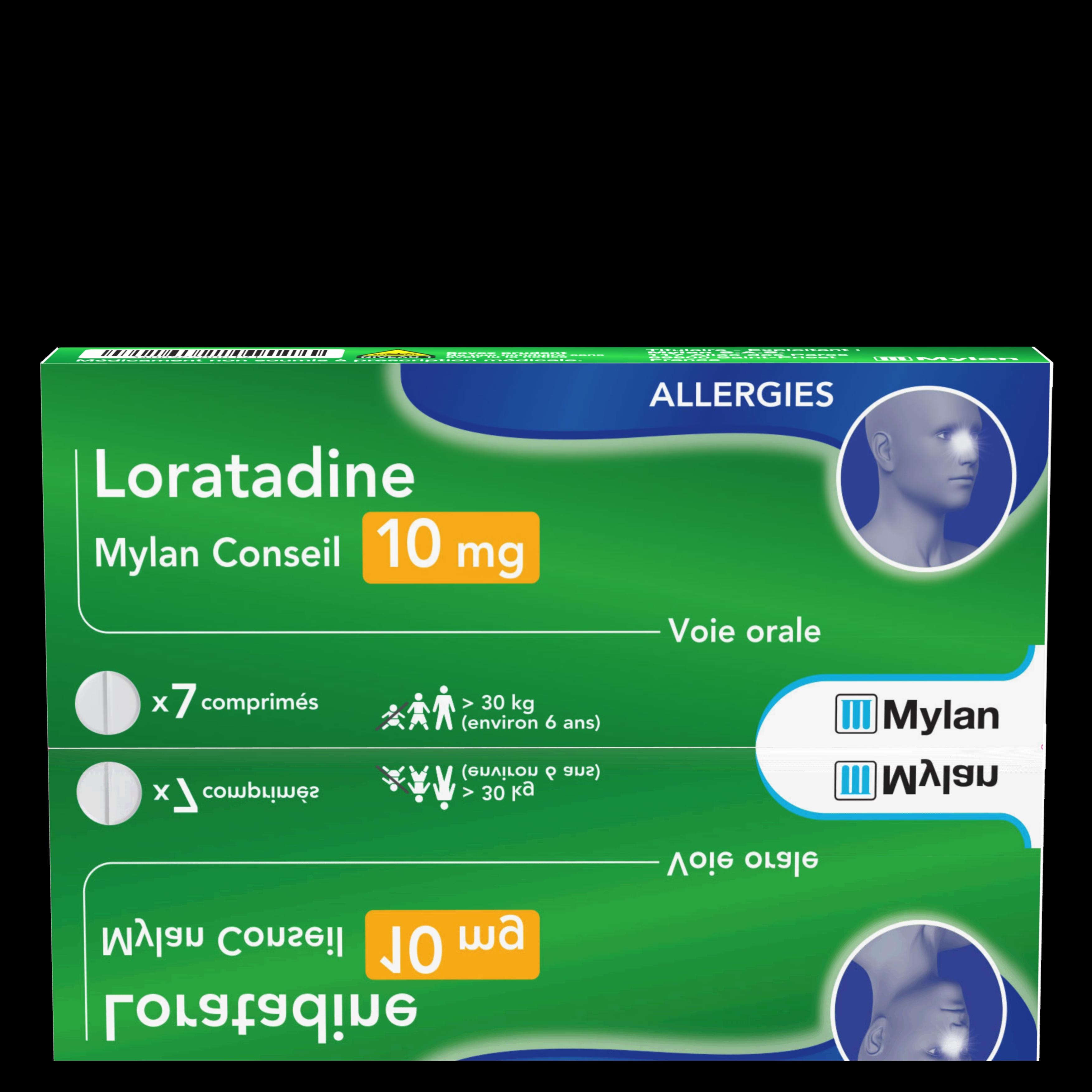 Loratadine 10 Mg 7 Comprimes