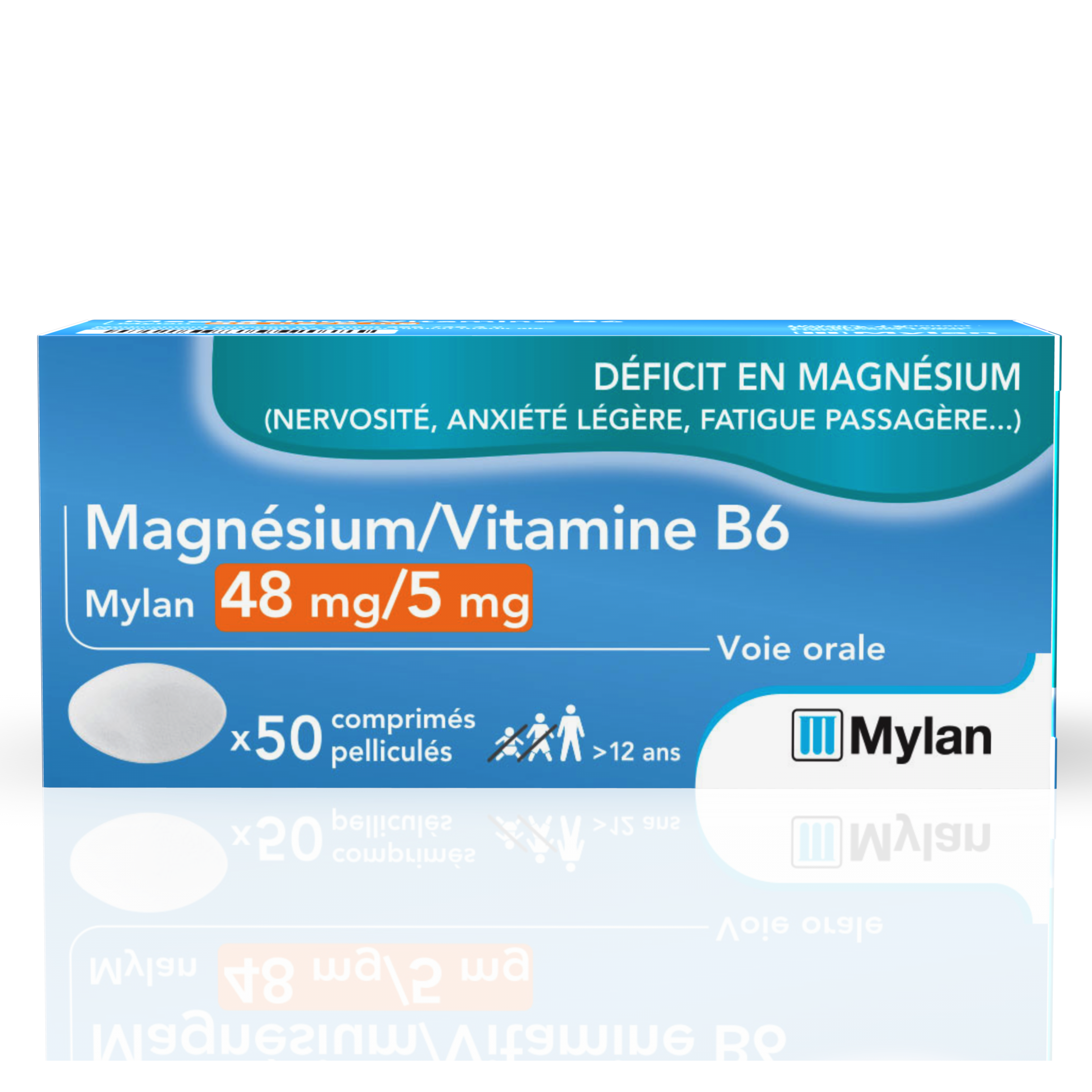 Magnesium Vitamine B 6 48 Mg 5 Mg 50 Comprimes