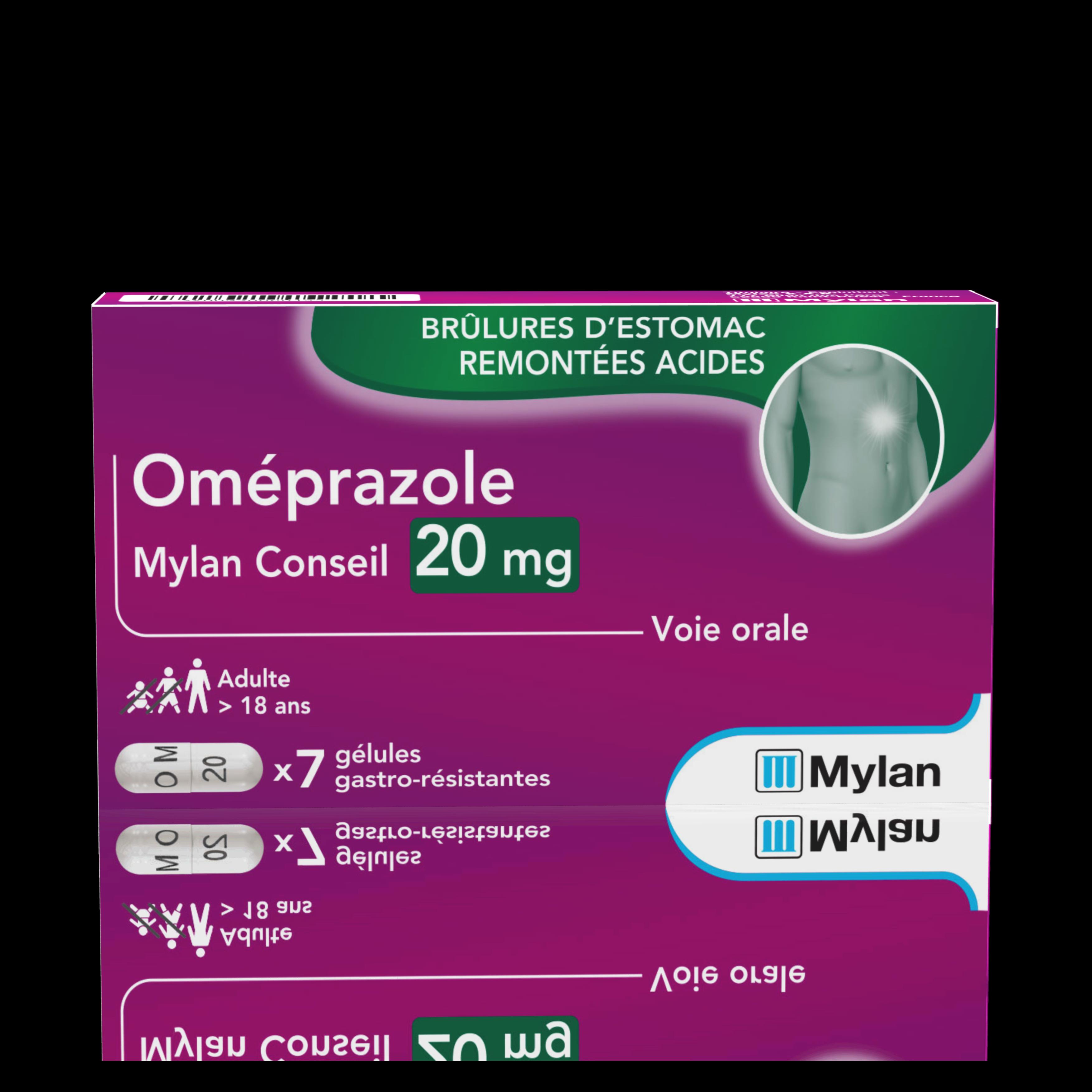 Omeprazole 20 Mg 7 Gelules