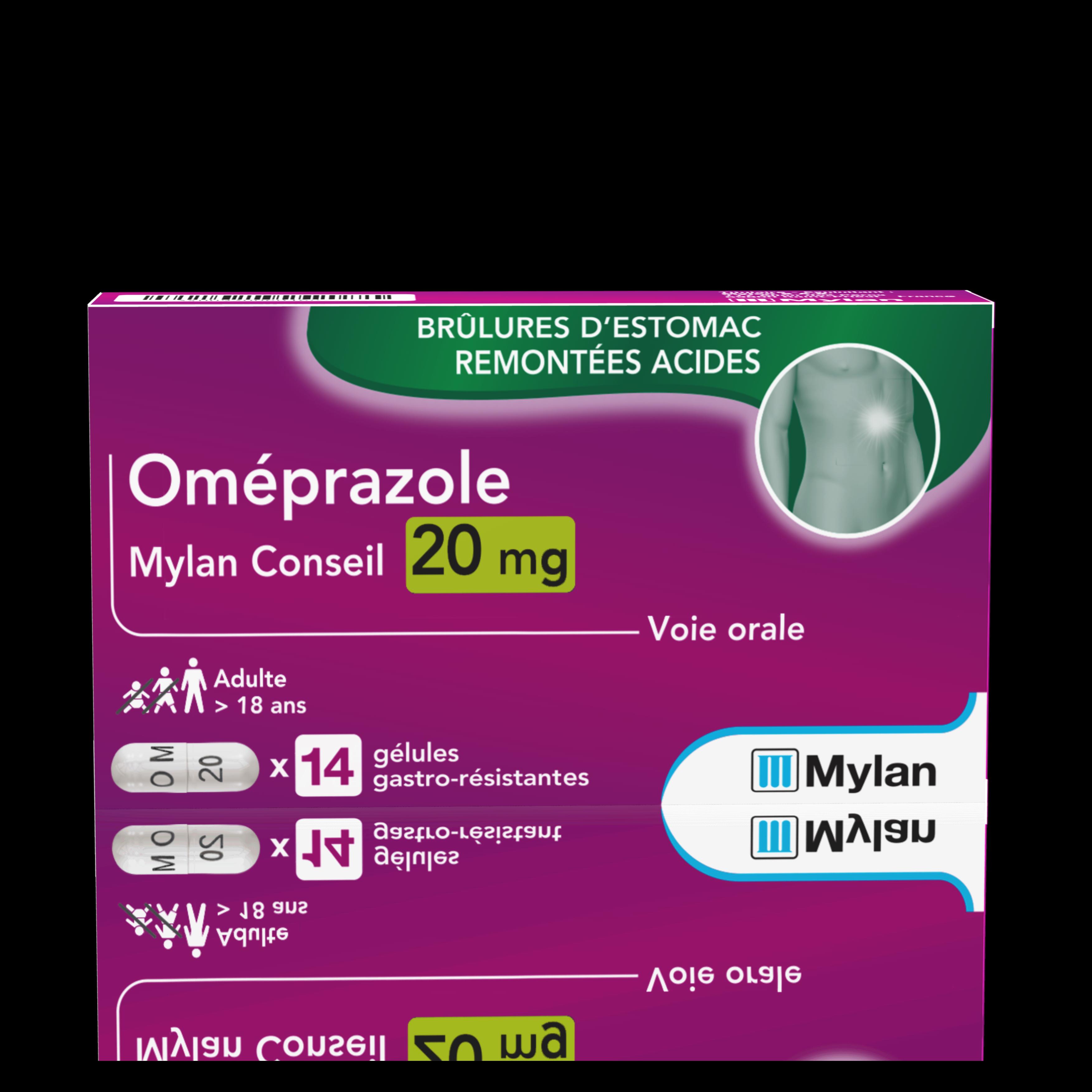 Omeprazole 20 Mg 14 Gelules