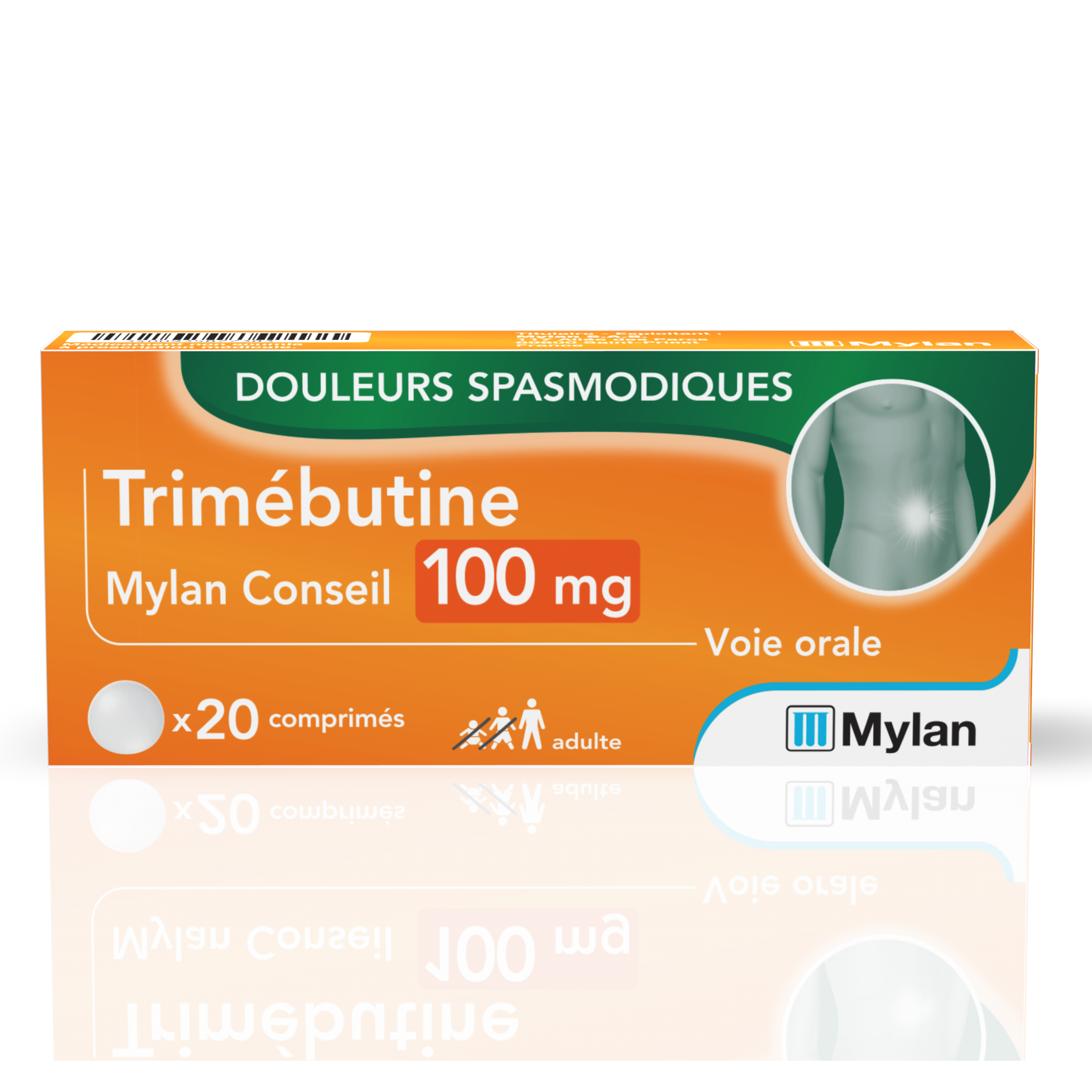 Trimebutine 100 Mg 20 Comprimes