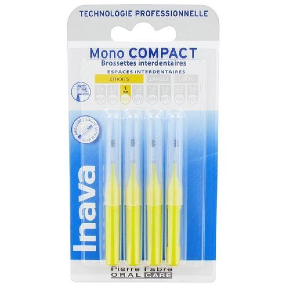 Mono Compact Brossettes Interdentaires Jaunes X 4