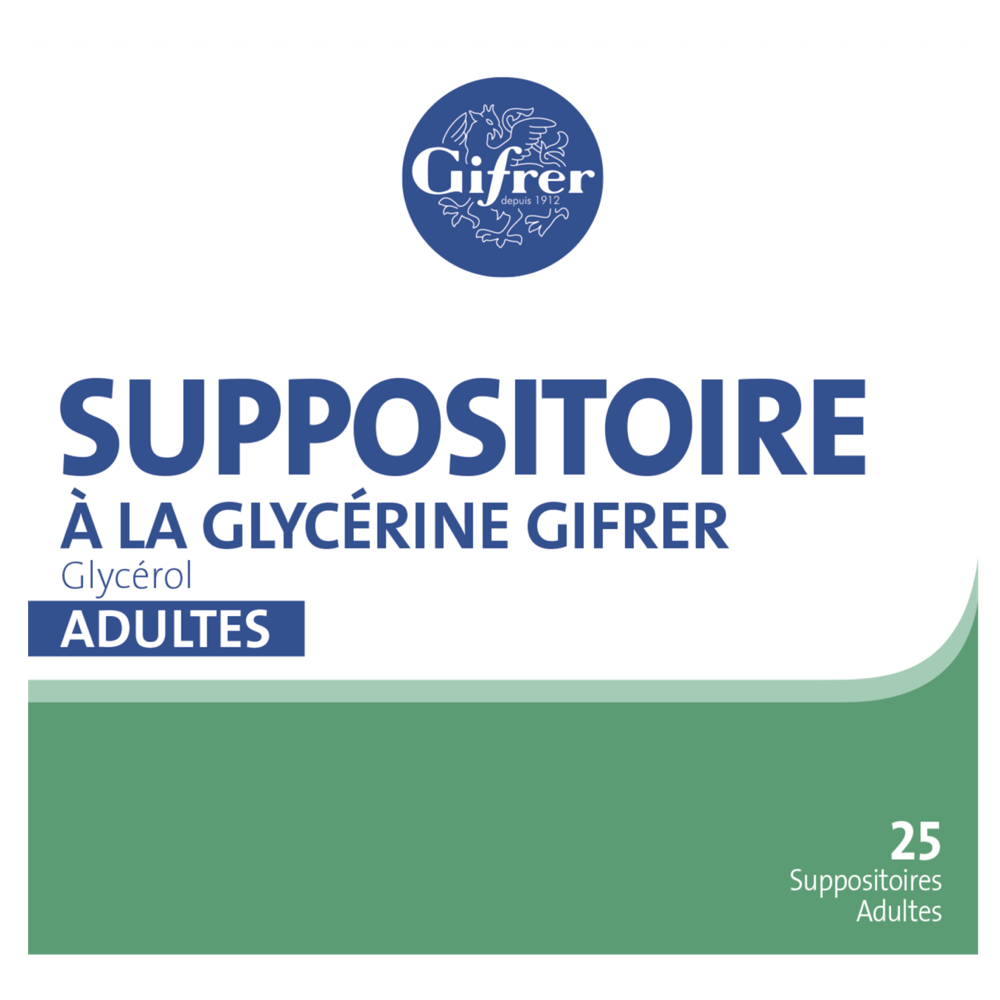 Suppositoire à La Glycerine Adulte x25