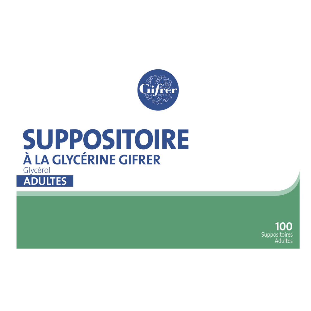 Suppositoire à La Glycerine Adulte x100