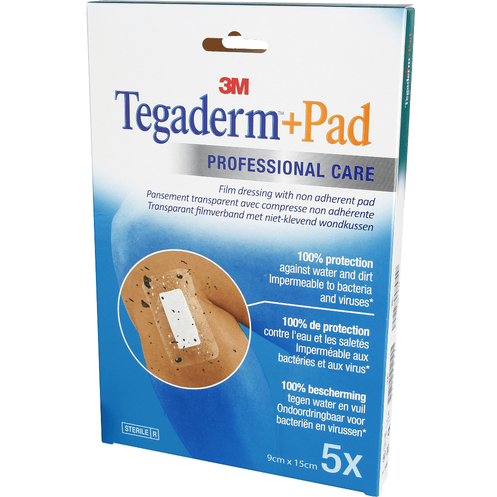 TEGADERM + PAD PANS 9x15 x5