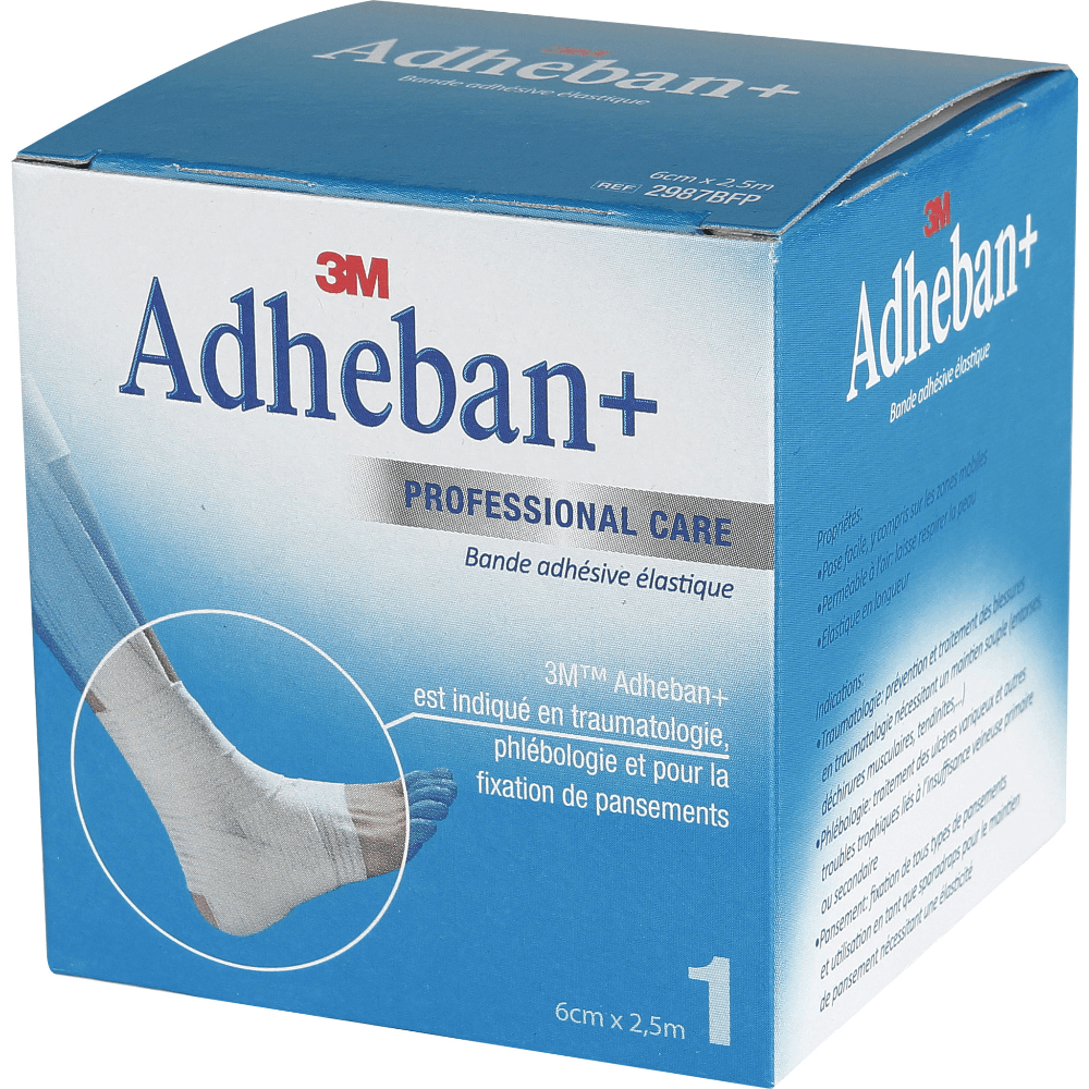 Adheban Plus Bande Elastique Adhesive 6 Cmx 2 5 M