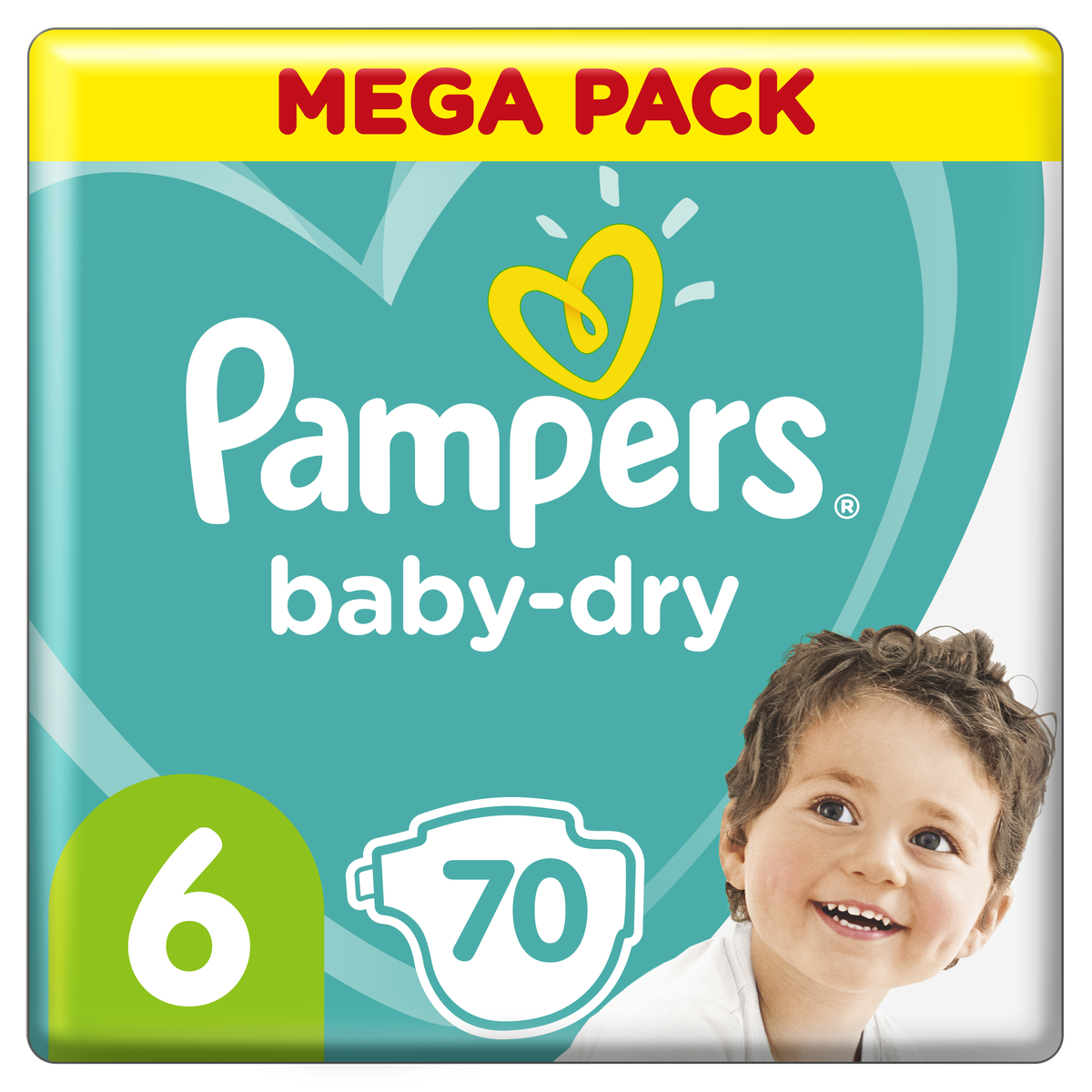 Couche Baby Dry Mega pack taille 6 x76