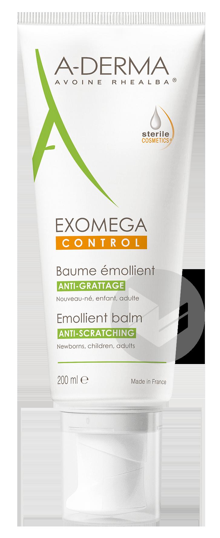 A Derma Exomega Control Baume Emollient Anti Grattage 200 Ml