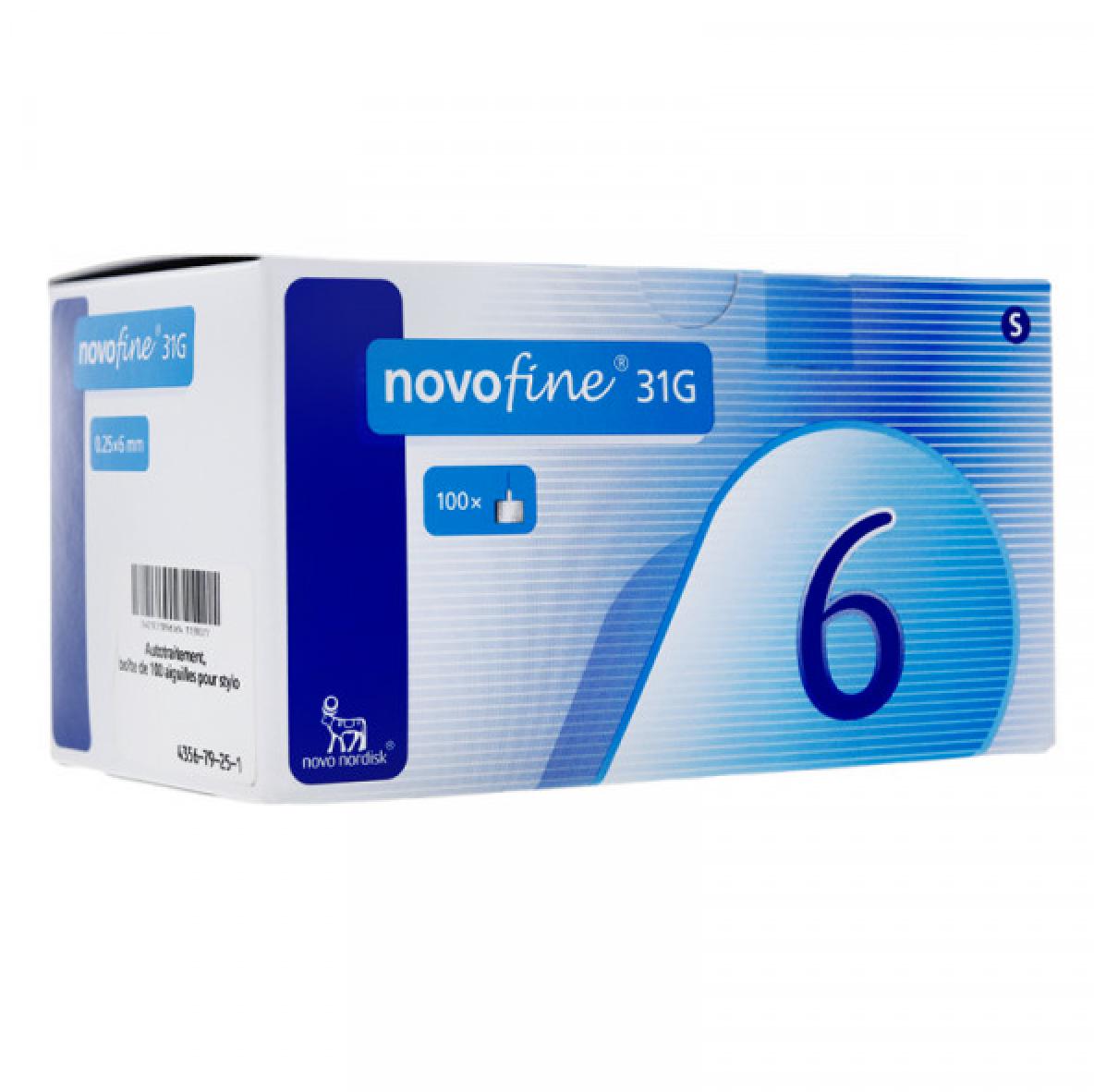 Novofine Aiguille 31 G Pour Stylo A Insuline 6 Mm X 100