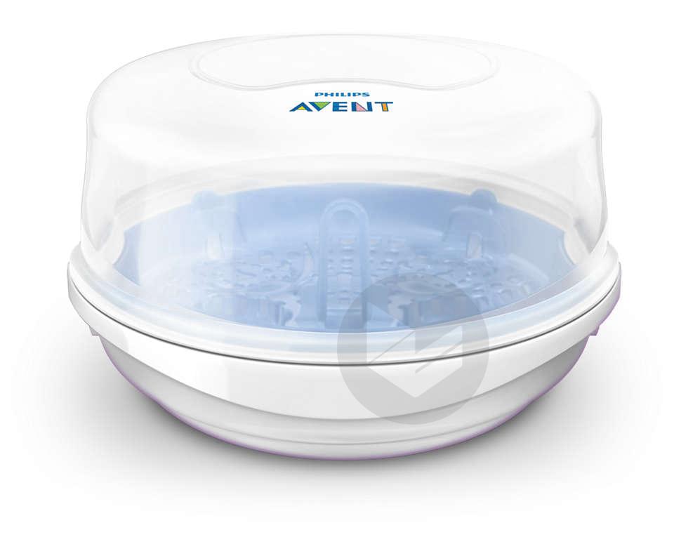 Stérilisateur micro-ondes vapeur - Bleu/Blanc