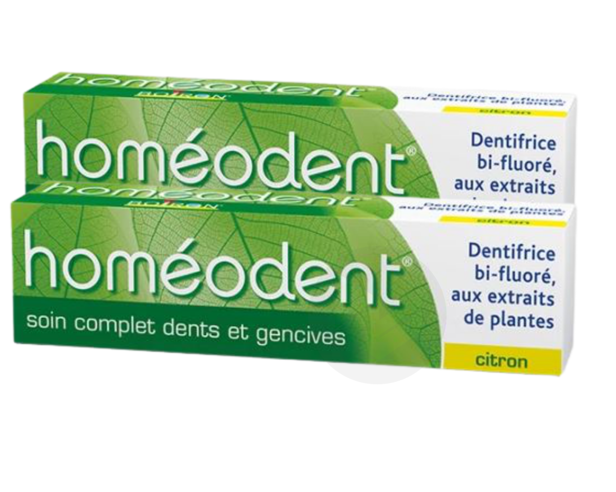 Homeodent Soin Complet Dents Et Gencives Citron 2 X 75 Ml