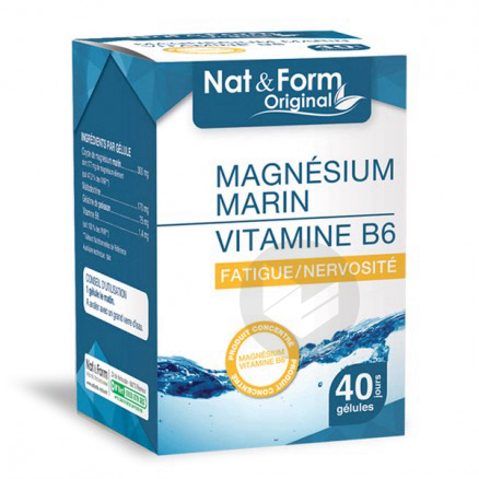 Expert Magnesium Vitamine B 6 40 Gelules