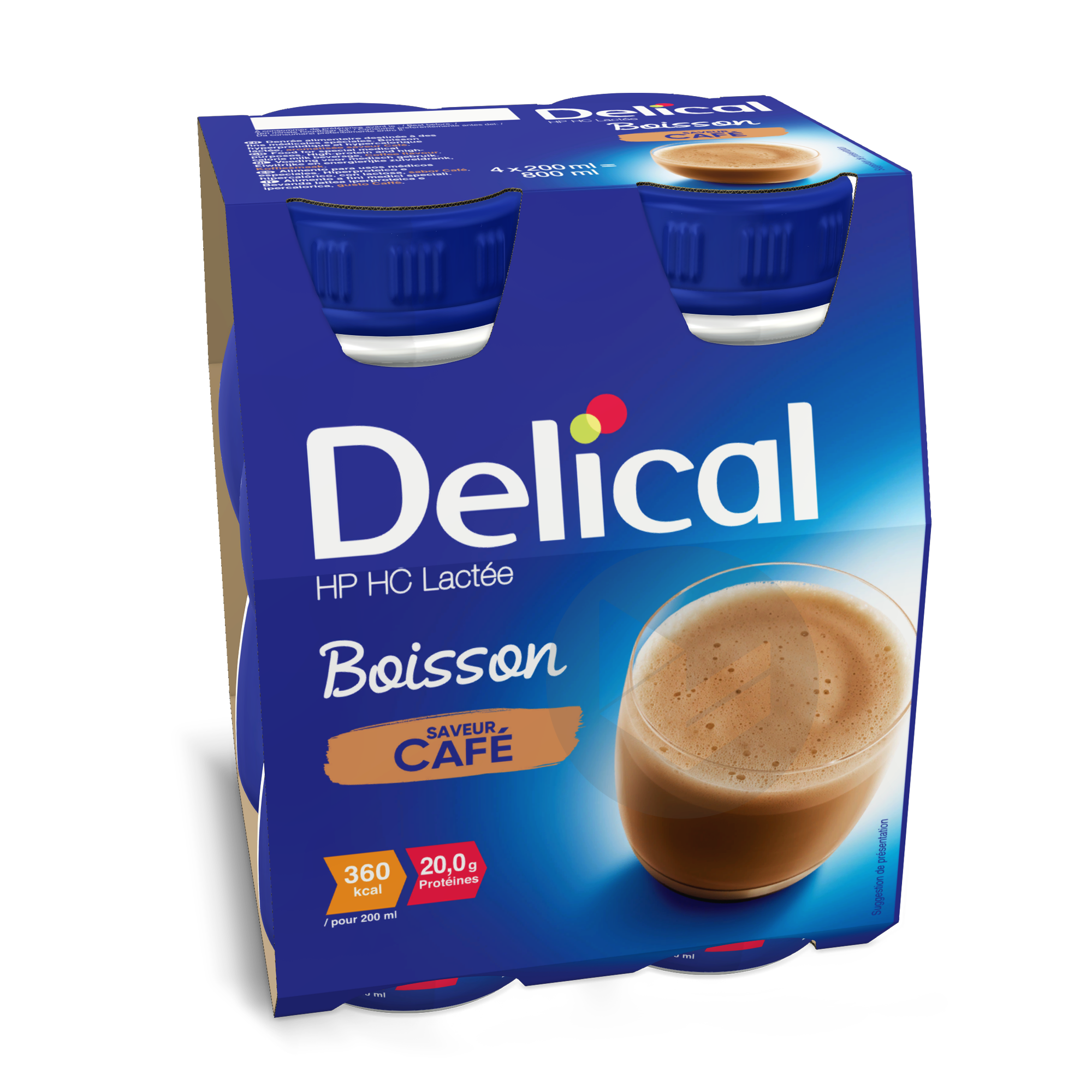 Delical Boisson Hp Hc Lactee Cafe