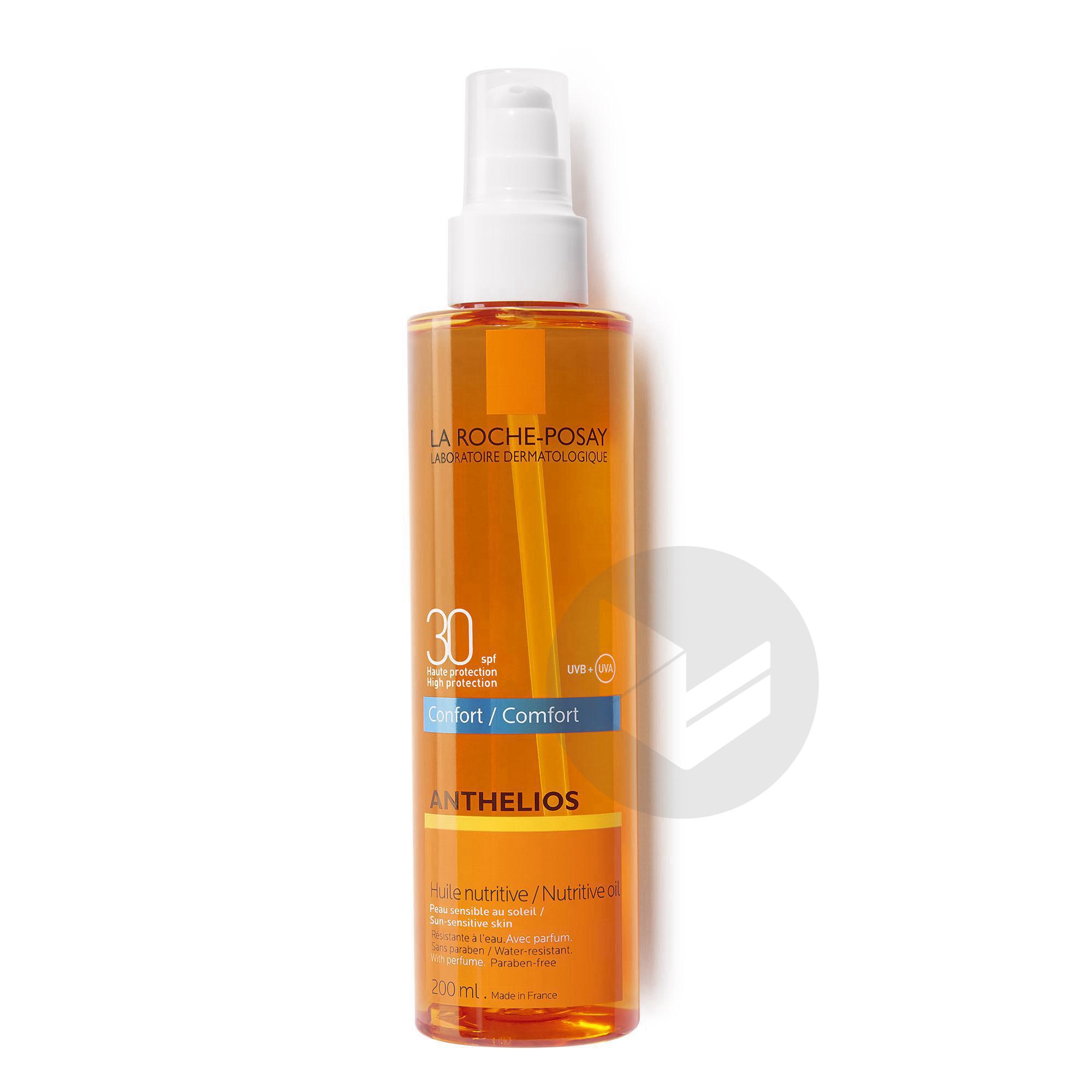 Anthelios Creme Solaire En Huile Confort Nutritive Corps Spf 30 Avec Parfum 200 Ml