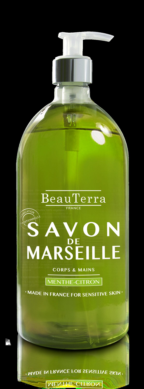 Savon De Marseille Liquide Menthe Citron 300 Ml