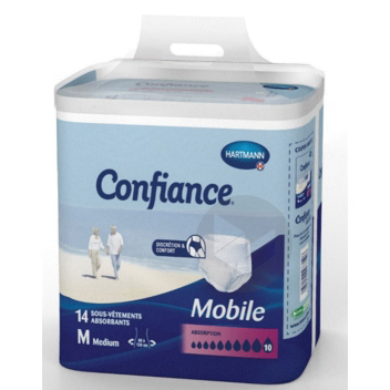 CONFIANCE MOBILE Slip absorbant jetable 10G L Sach/14