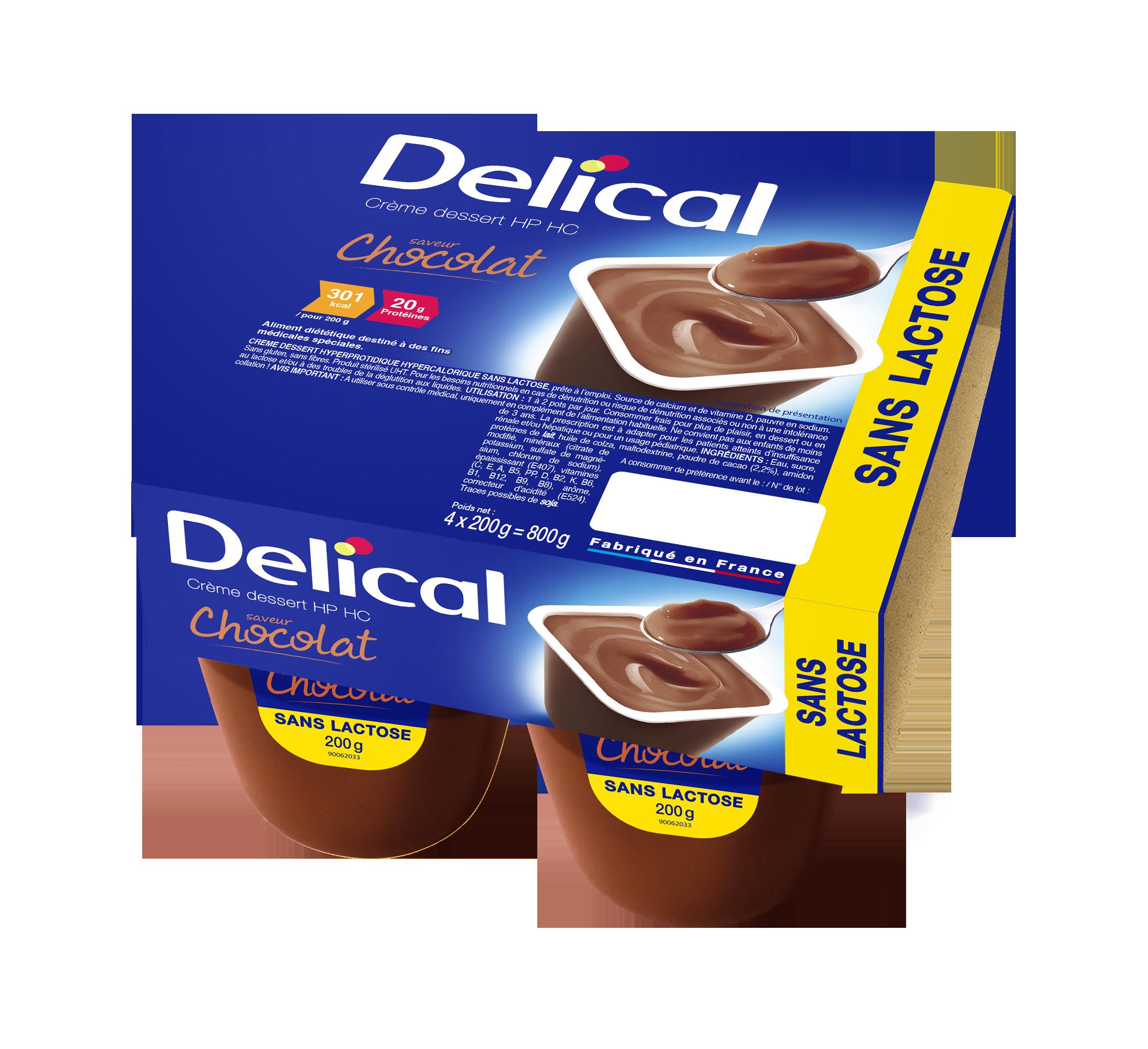 Delical Creme Dessert Hp Hc Sans Lactose Chocolat