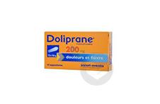 DOLIPRANE 200 mg Suppositoire (2 plaquettes de 5)