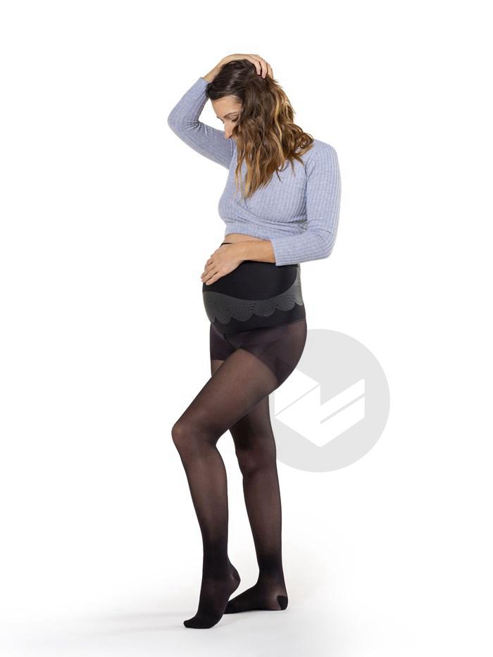 Collants Maternite Classe 2 Trasparent Noir Taille M