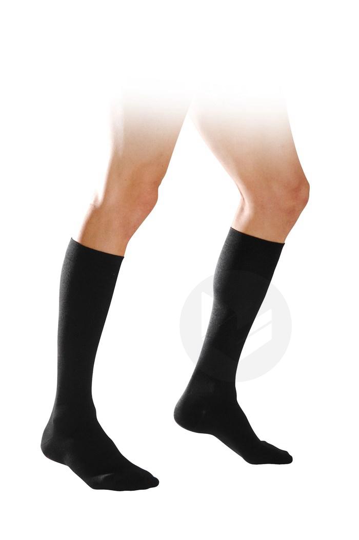 Chaussette coton classe 2 homme noir longueur normale taille M