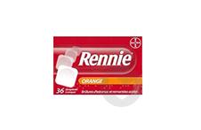 RENNIE Comprimé à croquer orange (Plaquette de 36)