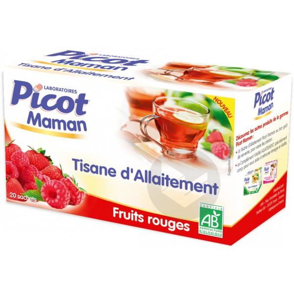 Picot Maman Tisane D Allaitement Bio Fruits Rouges 20 Sachets