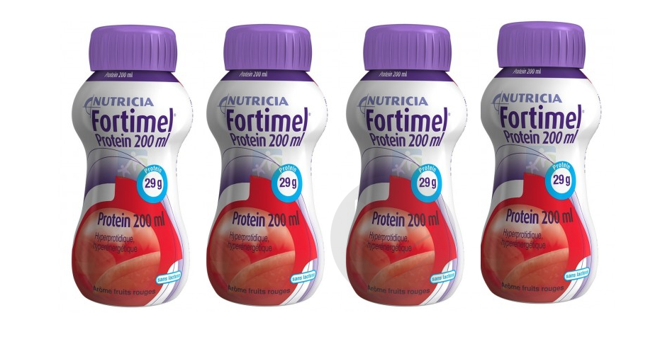Fortimel Protein Nutriment Fruits Rouges 4 X 200 Ml