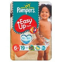 PAMPERS EASY-UP 6 Change complet -16kg Paq/19