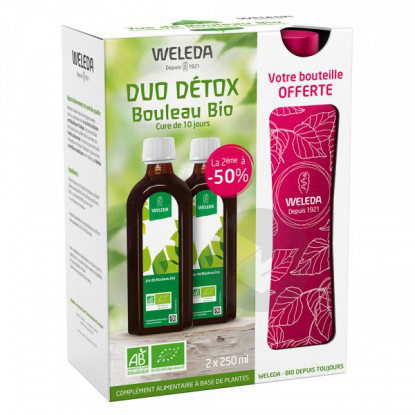 Duo Detox Jus De Bouleau Bio 2 X 250 Ml Bouteille Offerte